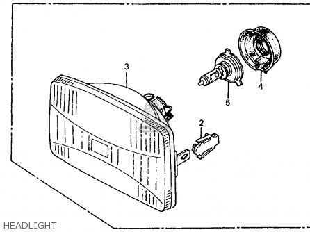Honda Cb700sc Nighthawk S 1985 (f) Usa parts list