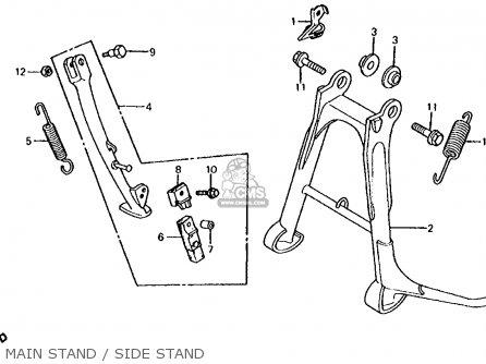 Honda CB700SC NIGHTHAWK S 1985 (F) USA parts lists and