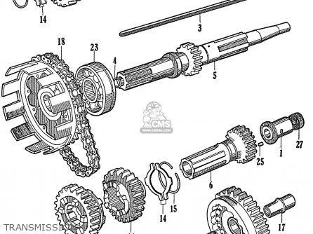 Honda Cb72 (general Export) parts list partsmanual partsfiche