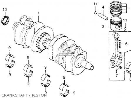 Honda Cb750 750 Four 1976 Cb750k6 Usa parts list