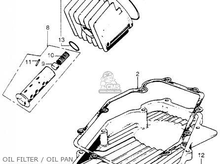 Honda Cb750 Four K4 1974 Usa parts list partsmanual partsfiche