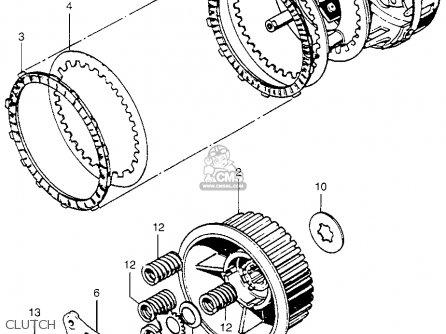 Honda Cb750 Four K4 Usa parts list partsmanual partsfiche