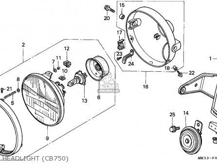 Honda Cb750 Nighthawk 1991 (m) Canada / Mkh parts list