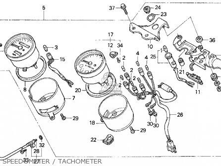Honda Cb750 Nighthawk 1991 (m) Usa parts list partsmanual