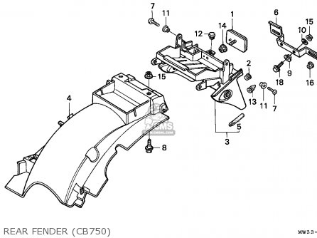 Honda CB750 NIGHTHAWK 1992 (N) CANADA / MKH parts lists