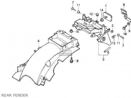 Honda Cb750 Nighthawk 1992 (n) Usa parts list partsmanual