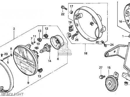 Honda Cb750 Nighthawk 1992 Usa parts list partsmanual