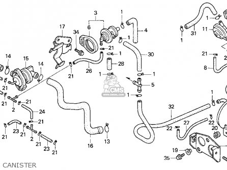 Honda Cb750 Nighthawk 1993 (p) Usa parts list partsmanual