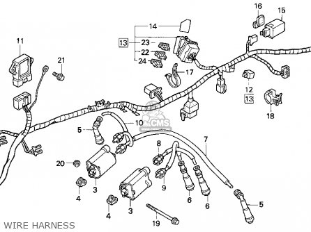 Honda CB750 NIGHTHAWK 1993 (P) USA parts lists and schematics
