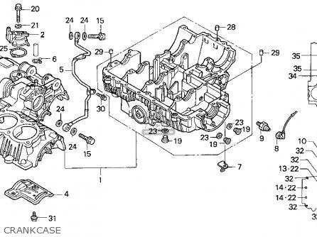 Honda Cb750 Nighthawk 1993 Usa parts list partsmanual
