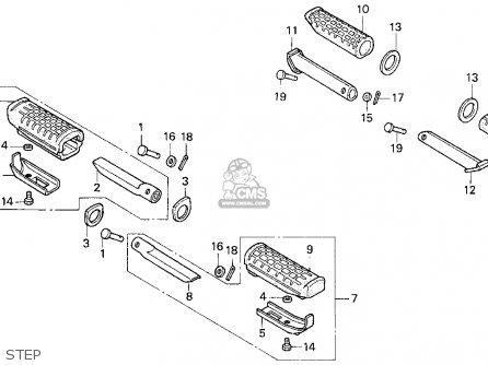 Honda CB750 NIGHTHAWK 1995 (S) USA parts lists and schematics