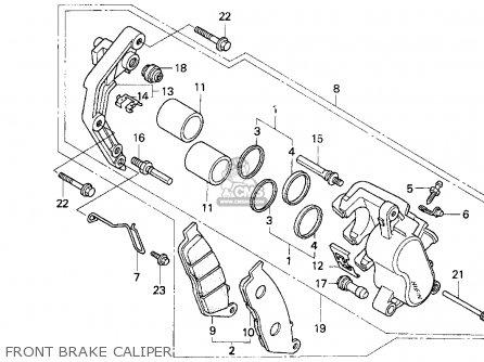 Honda Cb750 Nighthawk 1995 Usa parts list partsmanual