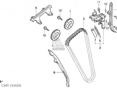 Honda Cb750 Nighthawk 1997 (v) Usa parts list partsmanual