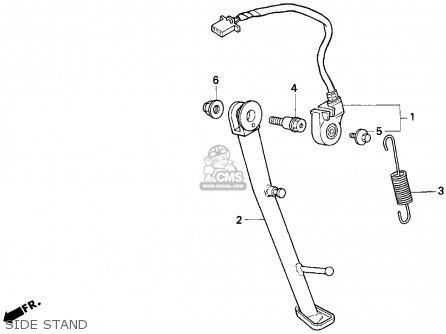 Honda CB750 NIGHTHAWK 1997 (V) USA parts lists and schematics