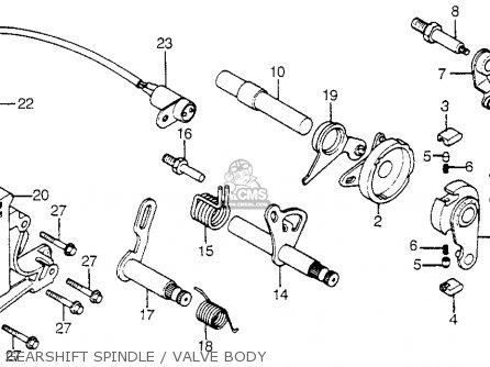 Honda Cb750a 750 Hondamatic 1977 Usa parts list
