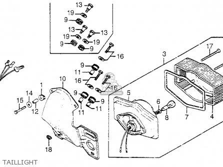 Honda CB750A 750 HONDAMATIC 1978 USA parts lists and