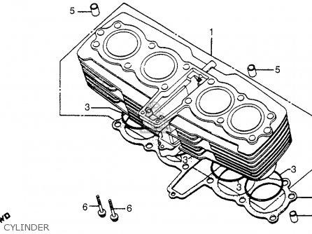 Honda Cb750c 750 Custom 1980 (a) Usa parts list
