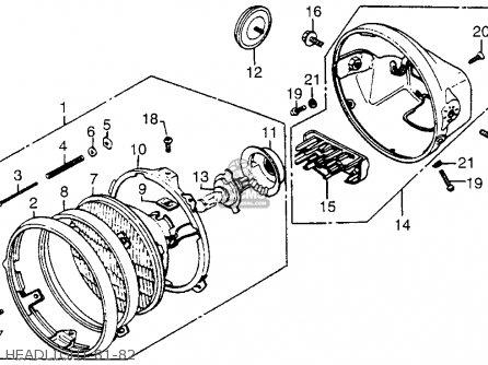 Honda CB750C 750 CUSTOM 1982 (C) USA parts lists and
