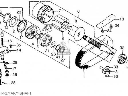 Honda Cb750c 750 Custom 1982 (c) Usa parts list