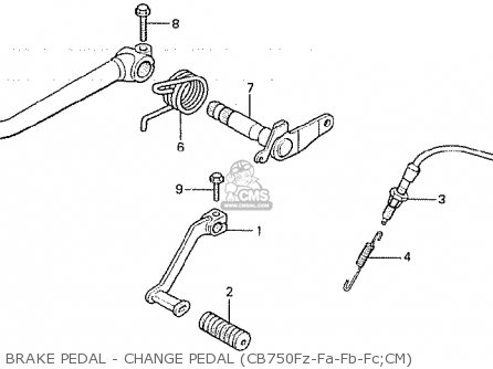 Honda CB750F 1979 (Z) CANADA parts lists and schematics