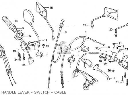Honda Cb750f 1980 (a) Canada parts list partsmanual partsfiche