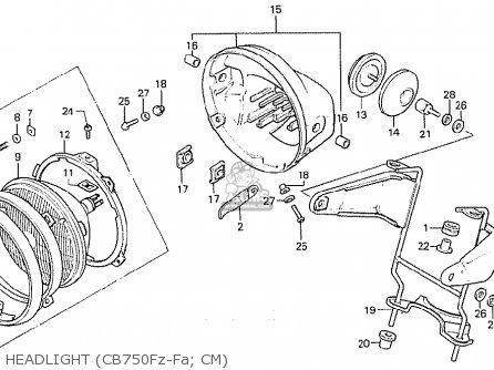 Honda CB750F 1980 (A) CANADA parts lists and schematics