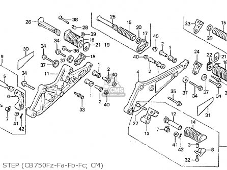 Honda Cb750f 1980 (a) Canada parts list partsmanual partsfiche