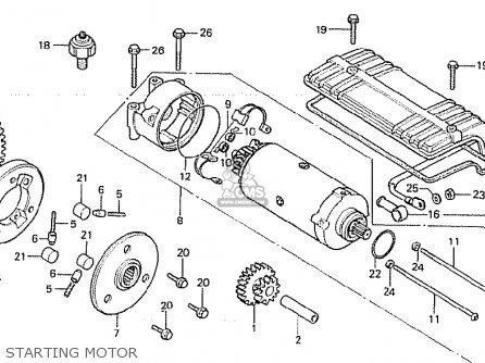 Honda Cb750f 1980 (a) England parts list partsmanual