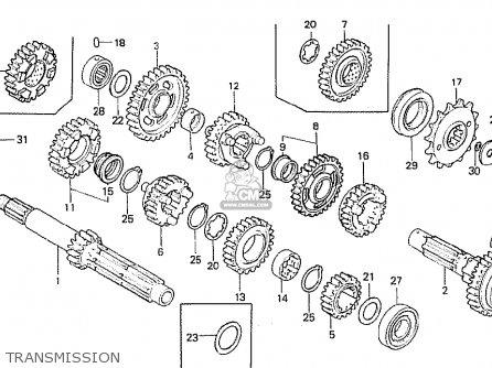 Honda CB750F 1980 (A) ENGLAND parts lists and schematics