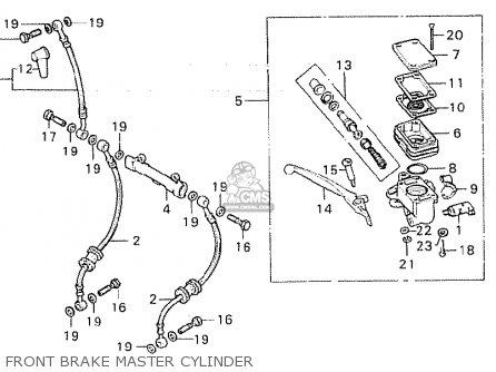 Honda CB750F 1980 (A) GENERAL EXPORT KPH parts lists and