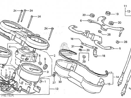 Honda CB750F 1980 (A) GERMANY parts lists and schematics