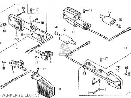 Honda Cb750f 1980 (a) Germany parts list partsmanual