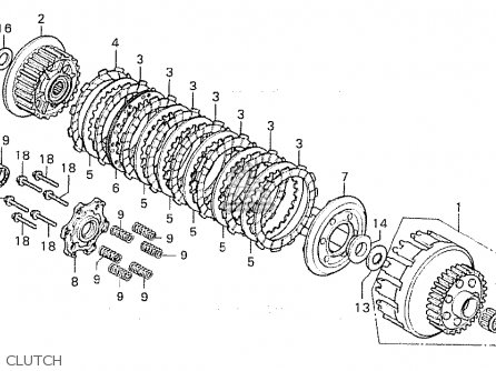 Honda CB750F 1981 (B) FRANCE parts lists and schematics