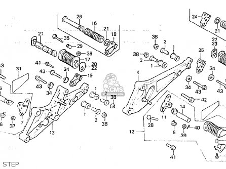 Honda CB750F 1982 (C) ENGLAND parts lists and schematics