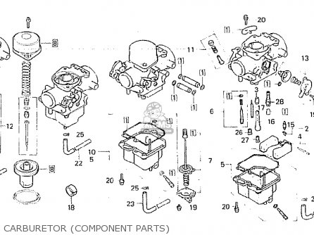 Honda CB750F 1982 (C) FRANCE parts lists and schematics