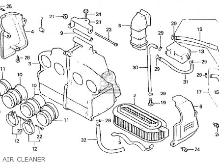 Honda Cb750f 1982 (c) Germany parts list partsmanual