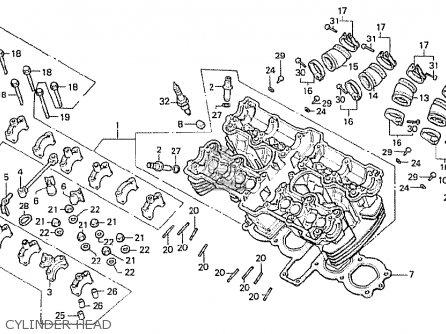 Honda CB750F 1983 (D) ENGLAND parts lists and schematics