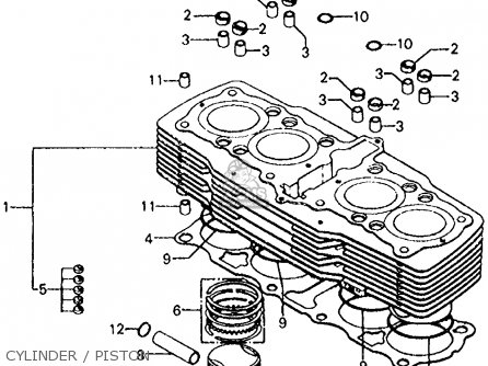 Honda Cb750f 750 Super Sport 1975 Usa parts list