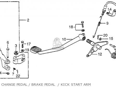 1978 honda cb750 wiring diagram 1998 saturn sl1 cb750f 750 super sport usa parts lists and schematics change pedal brake kick start arm