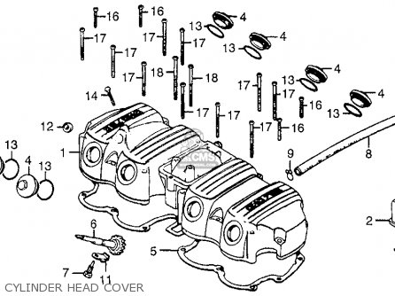1978 honda cb750 wiring diagram single line building electrical distribution system cb750f 750 super sport usa parts lists and schematics cylinder head cover
