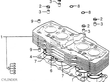 1978 honda cb750 wiring diagram ez go gas golf cart cb750f 750 super sport usa parts lists and schematics cylinder
