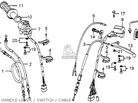 1978 honda cb750 wiring diagram how to cut up a pig cb750f 750 super sport usa parts lists and schematics handle lever switch cable