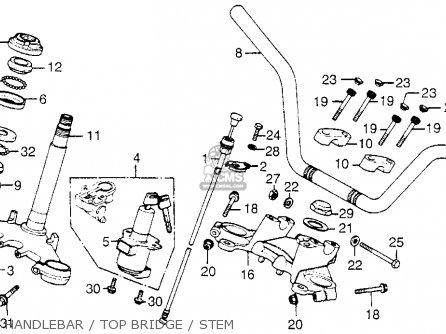 Honda Cb750f 750 Super Sport 1978 Usa parts list