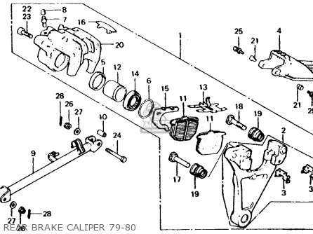 Honda Cb750f 750 Super Sport 1980 Usa parts list