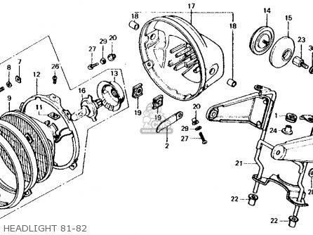 Honda CB750F 750 SUPER SPORT 1981 (B) USA parts lists and