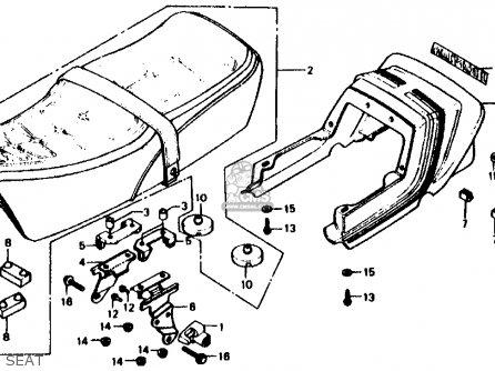 Honda CB750F 750 SUPER SPORT 1982 (C) USA parts lists and