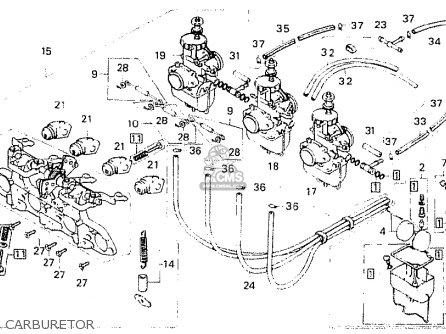 Honda Cb750f1 Super Sport 1976 France parts list