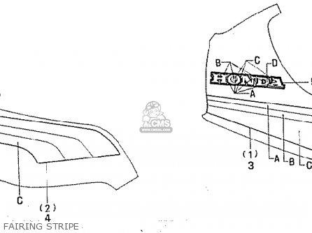 Honda Cb750f2 1982 (c) Australia parts list partsmanual