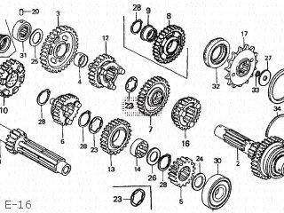Honda CB750F2 INTEGRA 1982 (C) JAPAN RC04-103 parts lists