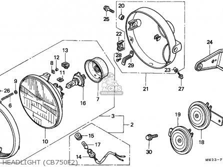 Honda CB750F2 SEVEN FIFTY 1992 (N) AUSTRALIA / KPH parts